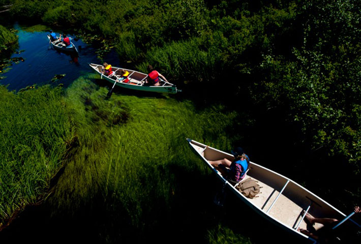 canoe tours on alta lake and river of golden dreams whistler bc