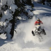 Whistler mountain snowmobile