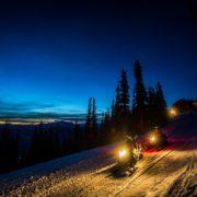 Whistler snowmobile tour at night