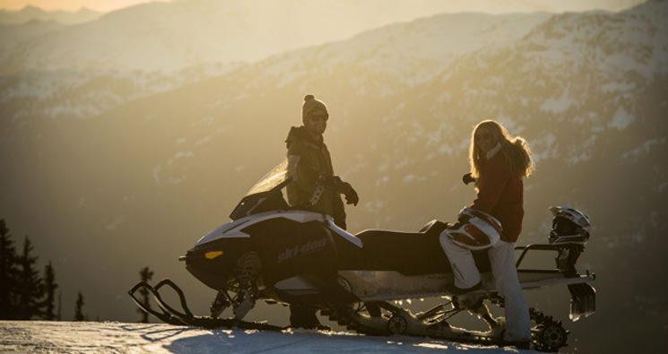 whistler sunset snowmobile