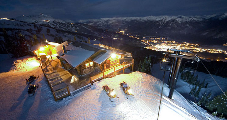 adventure dining by snowmobile in whistler bc