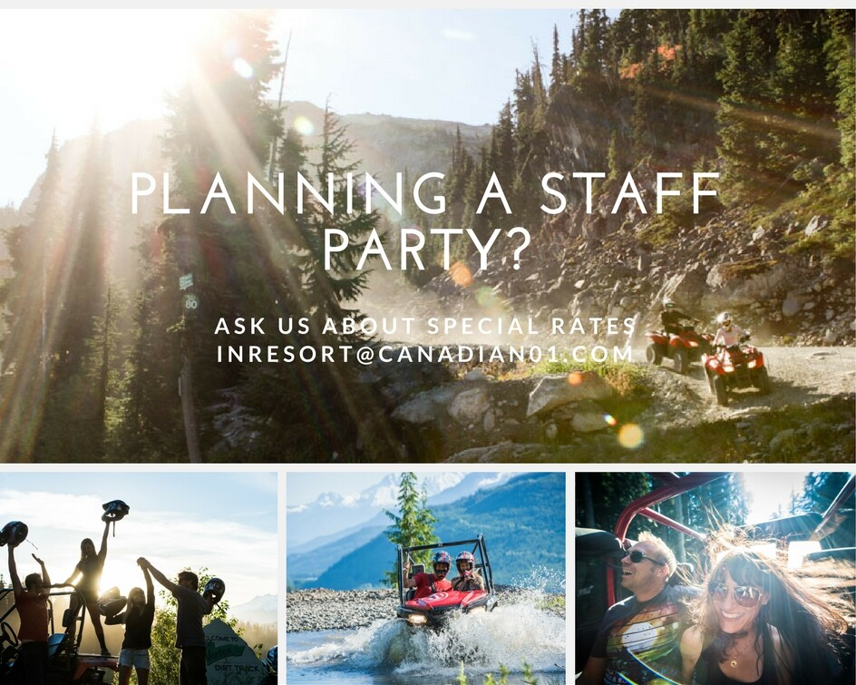 Planning a staff party in Whistler with Canadian Wilderness Adventures