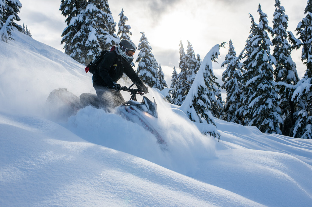 Backcountry Snowmobiling in Whistler