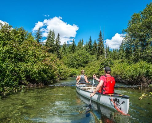 Canadian Wilderness Adventures Canoe Whistler River of Golden Dreams