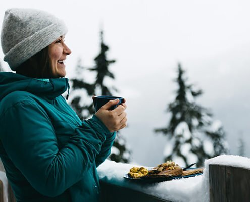 Delicious Yukon breakfast with Canadian Wilderness Adventures in Whistler