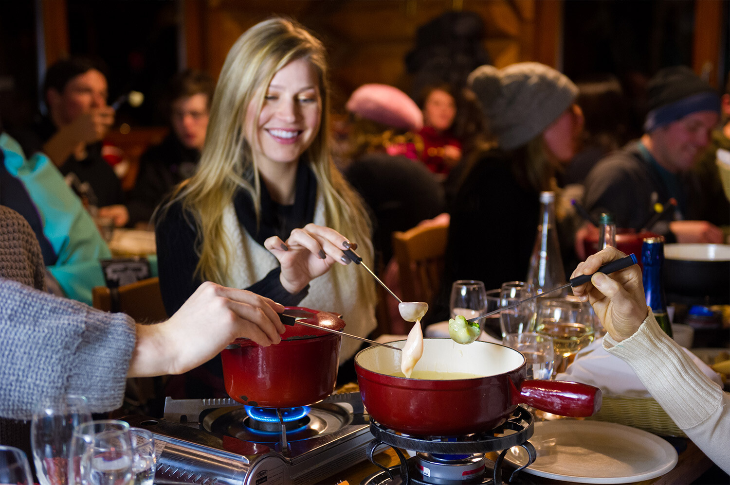 Canadian Wilderness Adventures Whistler Fondue Dinner Snowmobile