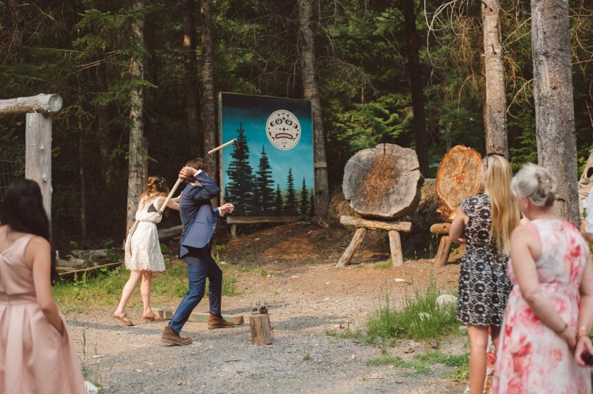 Whistler Groups Wedding Canadian Wilderness Adventures Axe