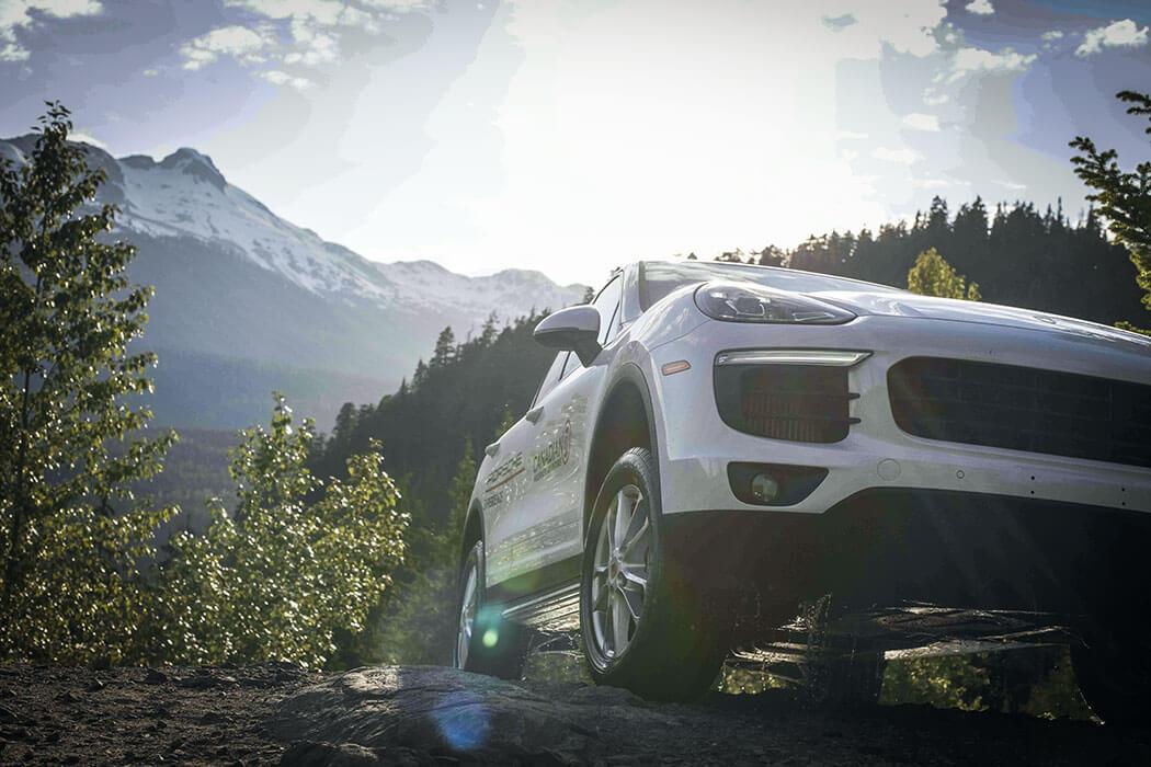 Porsche Cayenne S explores the Whistler backcountry