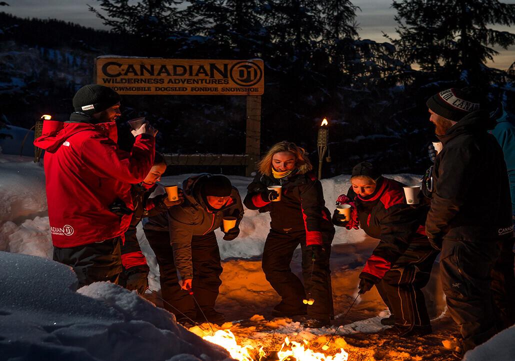 whistler apres snowmobile adventure
