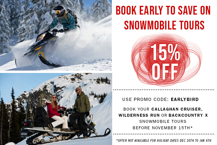 save 15% on snowmobile tours